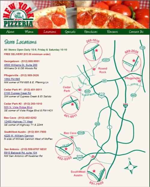 Yaghi's Pizza locations