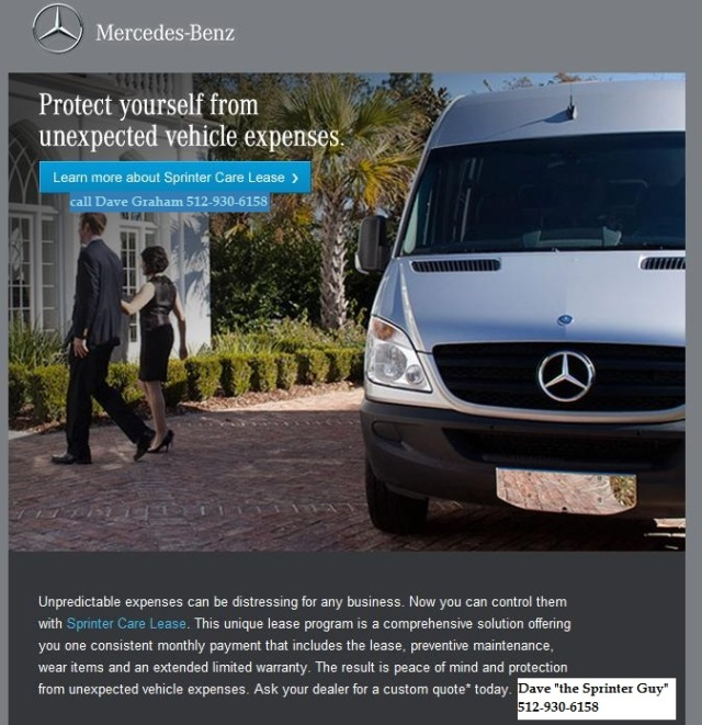 sprinter care ad