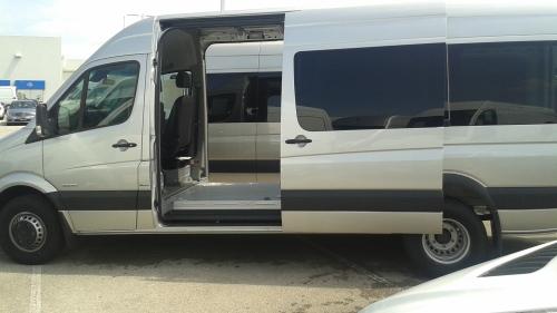 VIN #723 dual sliding door silver 170 1
