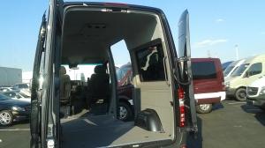 grey van inside from back door