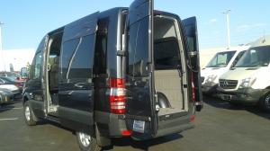 grey van left side from rear
