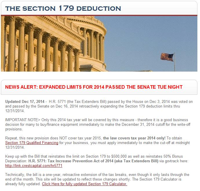 2014 IRS section 179 deduction
