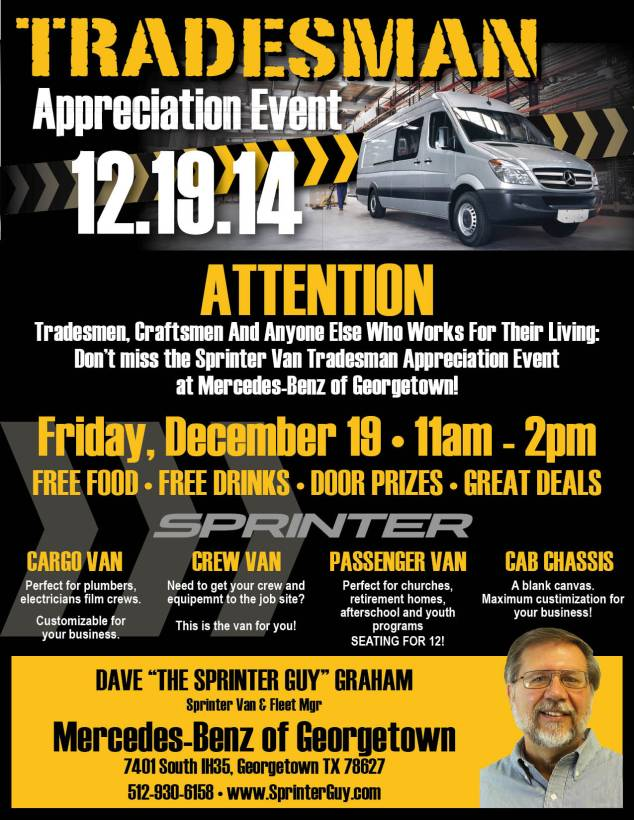 Tradesman Appreciation Event Flyer