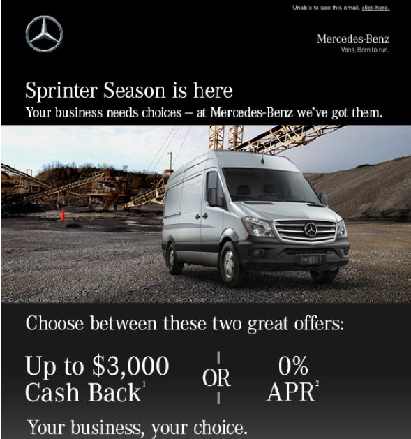 December 2015 Sprinter Special Offers ad