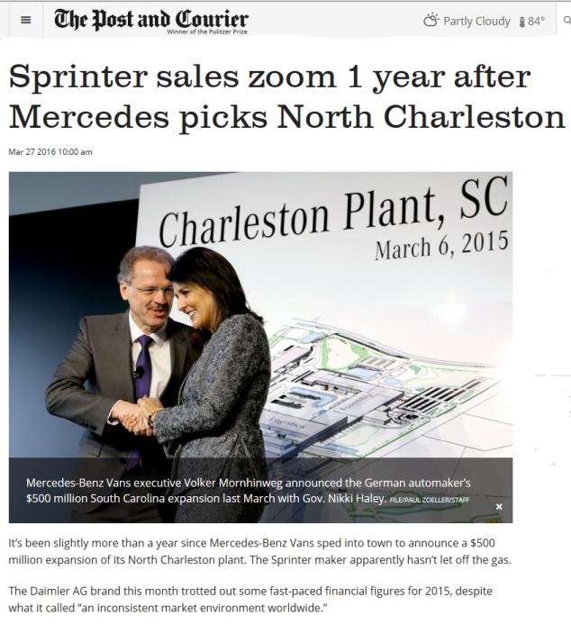 South Carolina MB Van expansion
