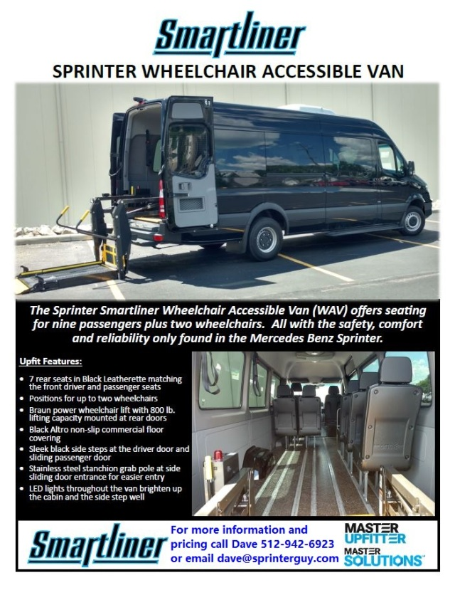 Smartliner Wheelchair Accessible Van pg 1