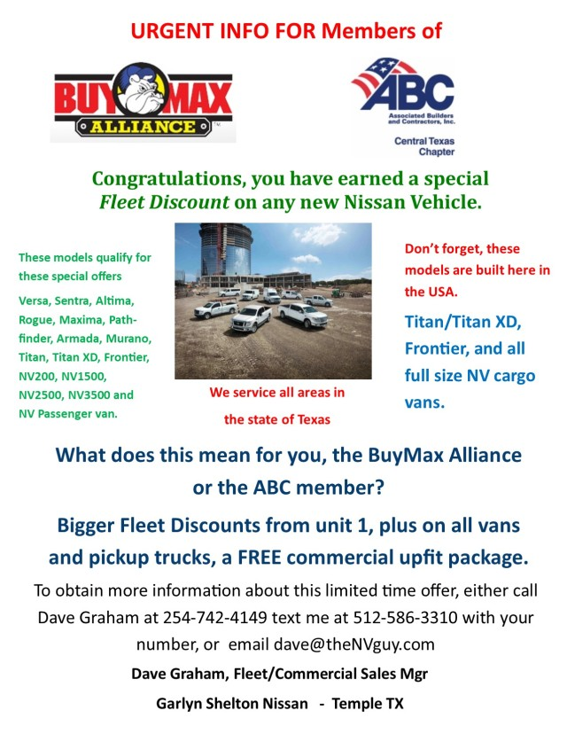 offer for BuyMax Alliance and ABC