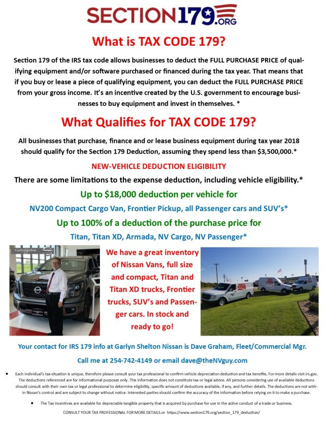 Section 179 flyer