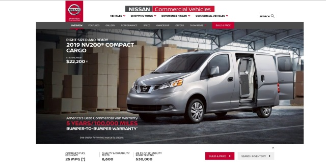 NV200 factory webpage