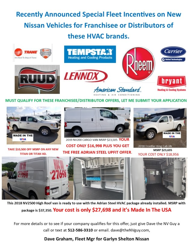 Special offers for HVAC Franchisee or Distributors