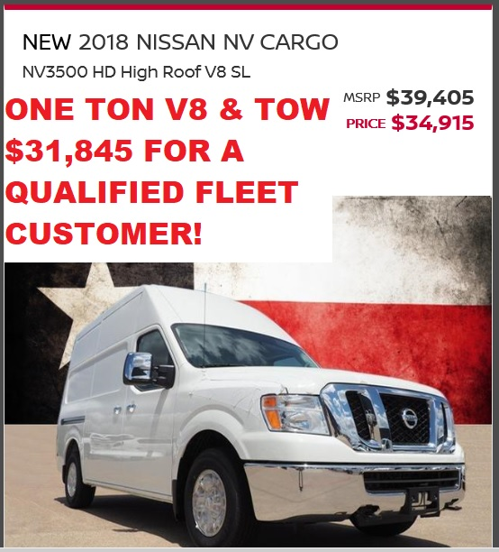 2018 NV3500 DEC SALE PRICE