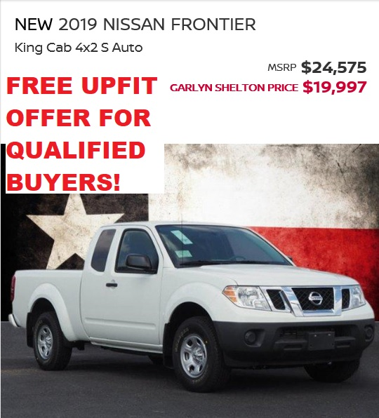 2019 FRONTIER KC DEC SALE