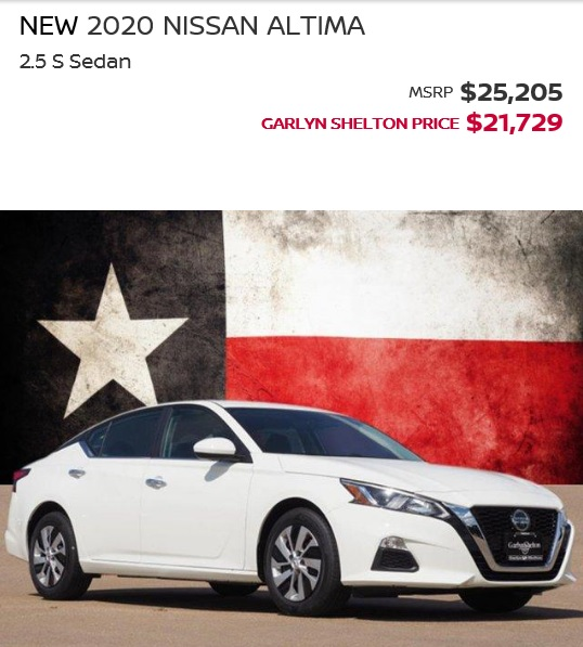 2020 ALTIMA S DEC SALE
