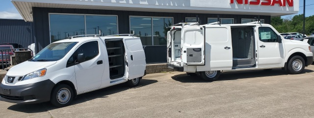 NV200 and NV2500 in front of office